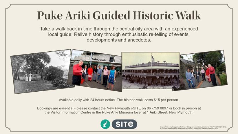 New Plymouth Guided Historic Walk Puke Ariki