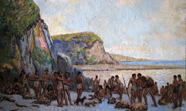 'The-Arrival-of-Turi'-by-Oriwa-Haddon-and-Charles-Hay-Campbell,-1933,-Aotea-Utanganui-Museum-of-South-Taranaki-Collection.jpg